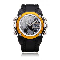 ALIKE AK7110 Sport Black Round Back Light Men Women Quartz Wrist Watch
