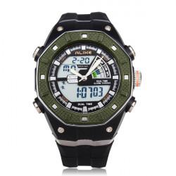 ALIKE AK9140 Sport LED Waterproof Multifunction Rubber Men Wrist Watch