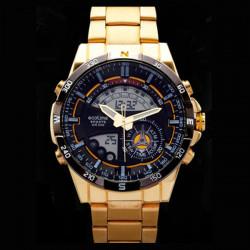 AMST 3009 Stainless Steel Analog Digital Double Display Wrist Watch