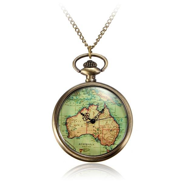 AU Map Pocket Watch
