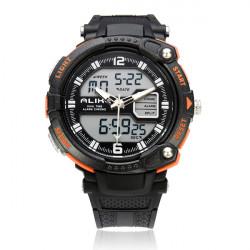Alike AK1391 Sport Date Big Dial Back Light Black Men Wrist Watch