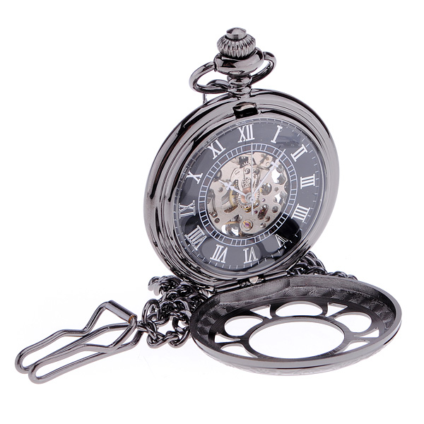 Antique Steampunk Hollow Mechanical Pendant Pocket Watch Watch