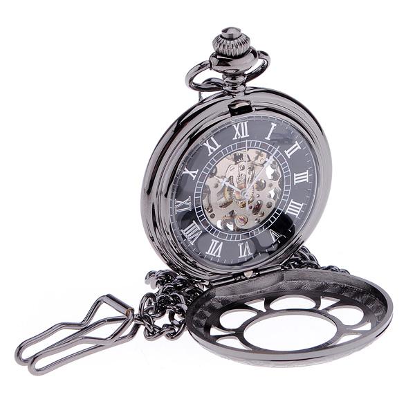 Antique Steampunk Hollow Mechanical Pendant Pocket Watch