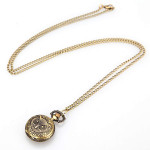 Antique Style Owl Pendant Pocket Watch Necklace with chain