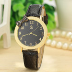 Bowknot PU Leather Band Gold Case Quartz Watch Watch
