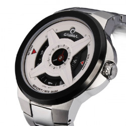 CASIMA 8208 Men Sport Waterproof Black White Quartz Watch