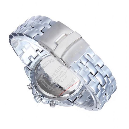 CURREN 8082 Black Gold Sport Round Stainless Steel Men Wrist Watch