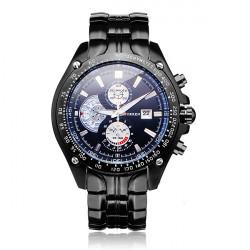 CURREN 8083 Silver Black Date Sport Stainless Steel Men Wrist Watch