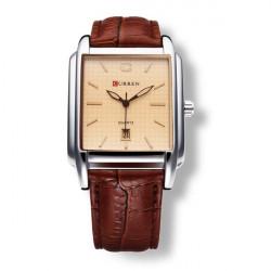 CURREN 8097 Calendar PU Leather Fashion Men Wrist Quartz Watch