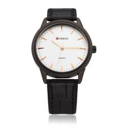 CURREN 8119 White Black Fashion Men Wrist Quartz Watch