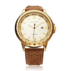 CURREN 8120 Calendar Gold Black Fashion Men Wrist Quartz Watch