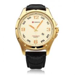 CURREN 8121 Calendar PU Leather Fashion Men Wrist Quartz Watch