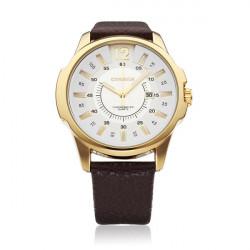 CURREN 8123 Black Gold PU Leather Fashion Men Wrist Quartz Watch