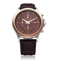 CURREN 8138 Black Gold 3 Dial Fashion Men Wrist Quartz Watch