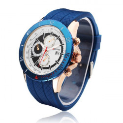 CURREN 8143 Sport Calendar Waterproof 3 Dial Men Wrist Quartz Watch