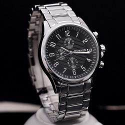 CURREN Black Dial Stainless Steel Band Waterproof Quartz Watch