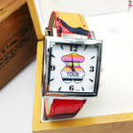 Casual Teddy Bear Square Dial PU Leather Band Watch Watch