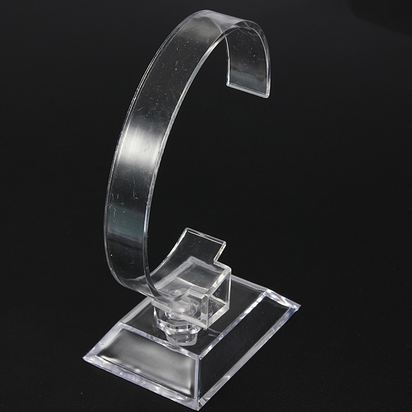 Clear Plastic Jewellery Bracelet Watch Display Show Stand Holder Watch Tools