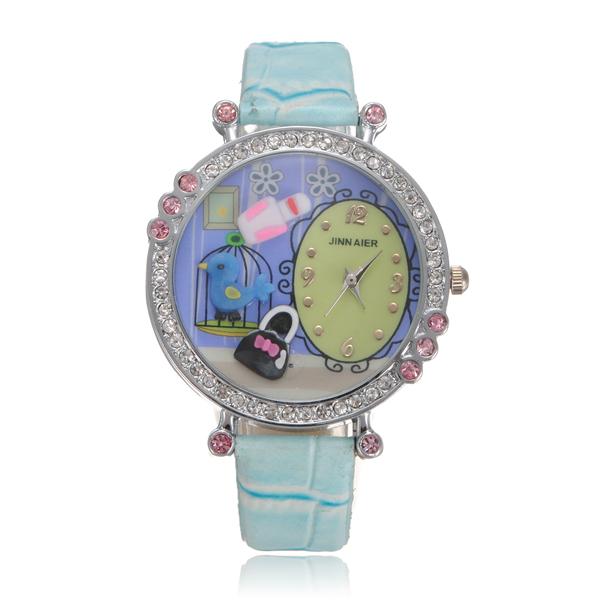 Crystal Beads Cartoon Resin Wrist Watch Watch