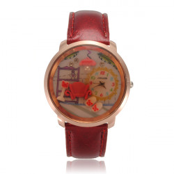 Crystal Beads Cartoon Resin Wrist Watch