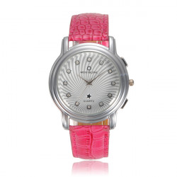 Crystal Leather Wrist Watch