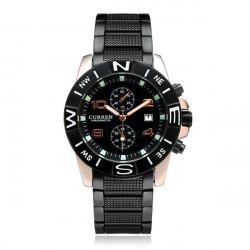 Curren 8038 Black Stainless Steel Date Calendar Men Wrist Watch