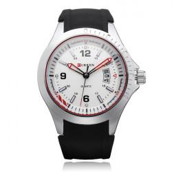 Curren 8102 Black Silicone Military Big Dial Men Quartz Wrist Watch