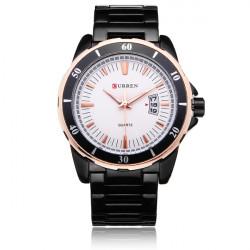 Curren 8108 Black Stainless Steel Number Men Quartz Wrist Watch