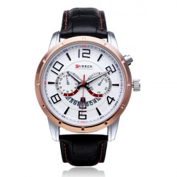 Curren 8140 Date Calendar Number Big Dial Military Men Wrist Watch