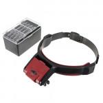 Detachable 4 Glass Lens 3.5x Loop Head Band VISOR LED Light Magnifying Watch Tools