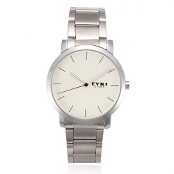 EYKI 8410 Quartz Lovers Couples Leather Simple Style Watch
