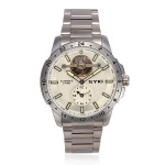 EYKI 8562 Automatic 2 Time Stainless Steel Backlight Men Watch Watch