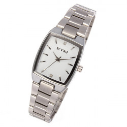 EYKI 8595 Quartz Lovers Stainless Steel Thin Couples Watch