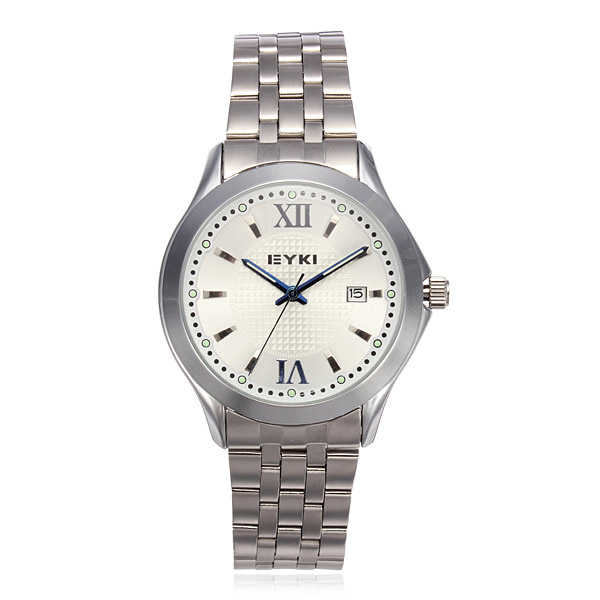 EYKI 8596 Backlight Stainless Steel Waterproof Couples Watch