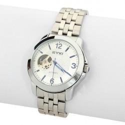 EYKI Automatic Mechanical Skeleton Stainless Steel Men Wrist Watch