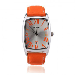 EYKI EET8546G Women Leather Stainless Steel Date Quartz Watch