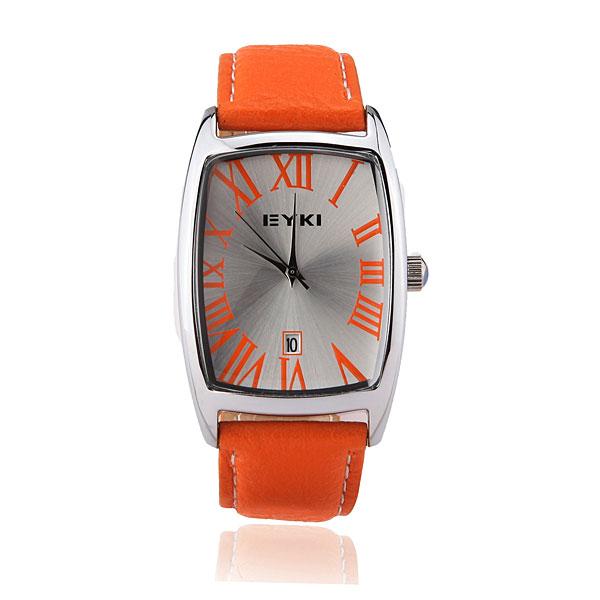 EYKI EET8546G Women Leather Stainless Steel Date Quartz Watch Watch