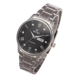 EYKI EETS8586AL Stainless Steel Waterproof Calendar Couple Watch