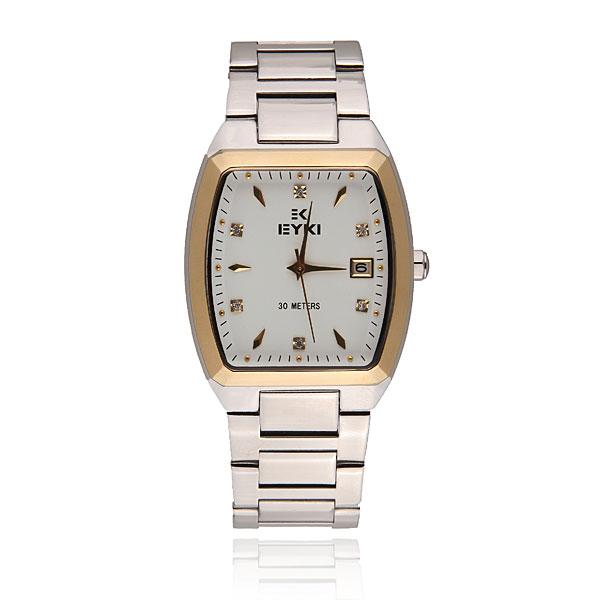 EYKI EETS8591AG Men Week Calendar Steel Band Quartz Watch Watch