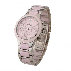 EYKI EMOS8566L Women Waterproof Ceramic Band Quartz Watch