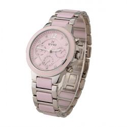 EYKI EMOS8566L Women Waterproof Ceramic Band Quartz Watch
