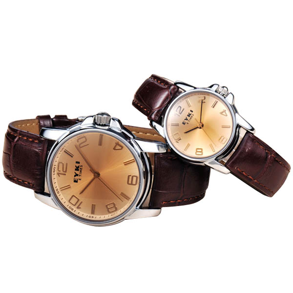 EYKI PU Band Lovers Quartz Wrist Watch couple watch Japan Movement Watch