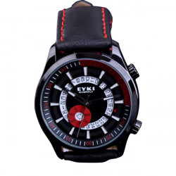 EYKI Stylish PU Band Quartz Wrist Watch Japan Movement