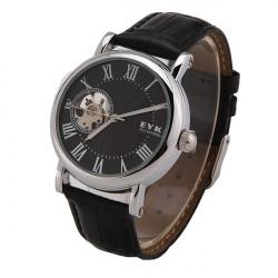 EYKI W8462G Men Stainless Steel FLYWHEELS Leather Mechanical Watch