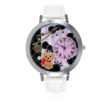 Eiffel Tower Horse Cat Bear Swan Guitar Leather Fashion Women Watch Watch