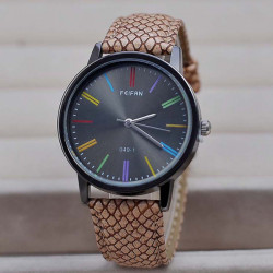 FEIFAN 049-1 Snake Grain PU Leather Band Waterproof Watch