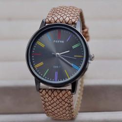FEIFAN 049-1 Snake Grain PU Leather Band Waterproof Watch