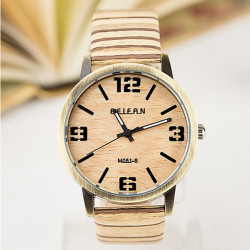 FEIFAN M051-S Grain Band Big Dial Waterproof Quartz Watch