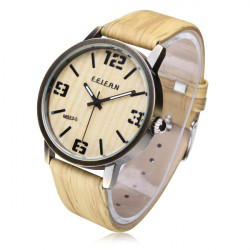 FEIFAN M051-S Vintage Big dial Wood Grain Waterproof Quartz Watch