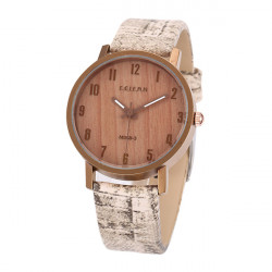 FEIFAN M069-3 Vintage Wood Grain Waterproof Quartz Watch